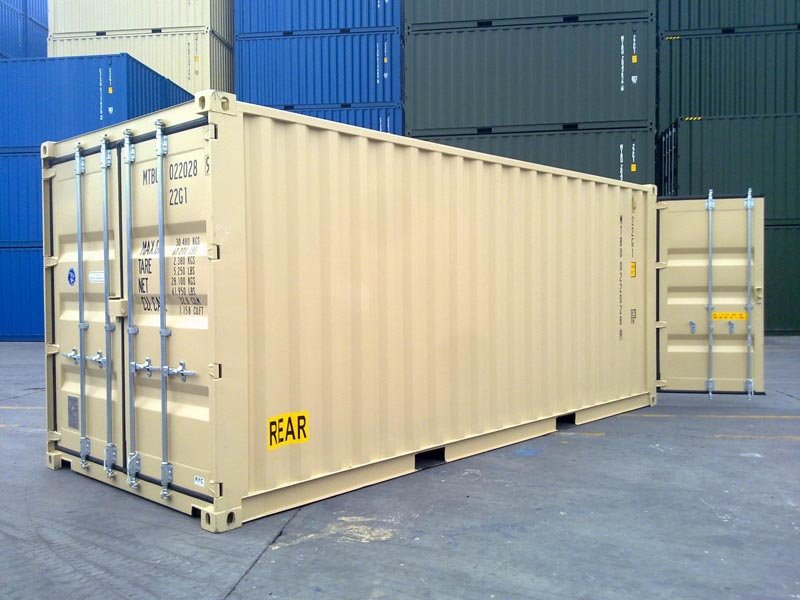 double door shipping container image