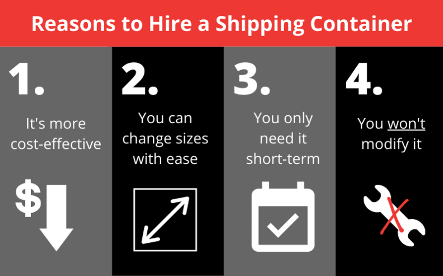 reasons to hire a shipping container